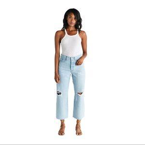 Etica Devon Wide Leg Distressed Jeans Size 26